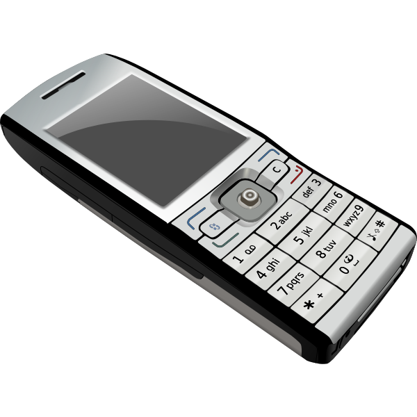 Vector illustration of mobile telephone