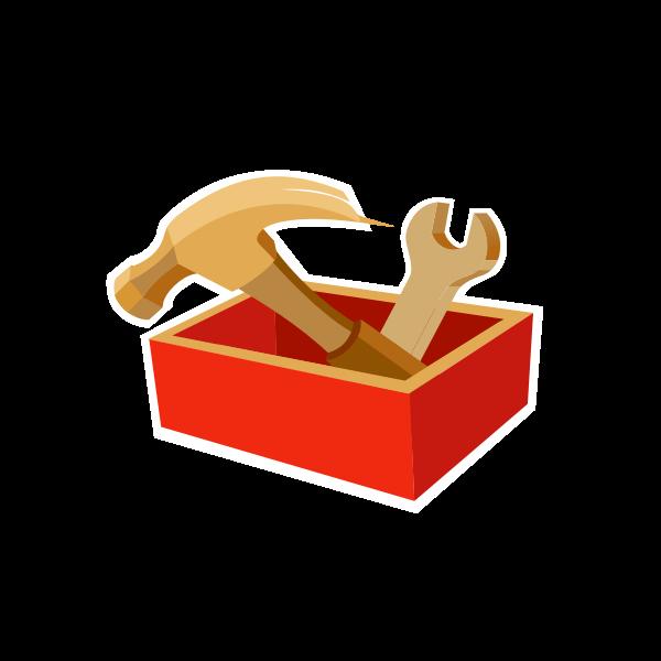 Tool box sign vector drawing