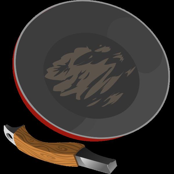 Broken frying pan