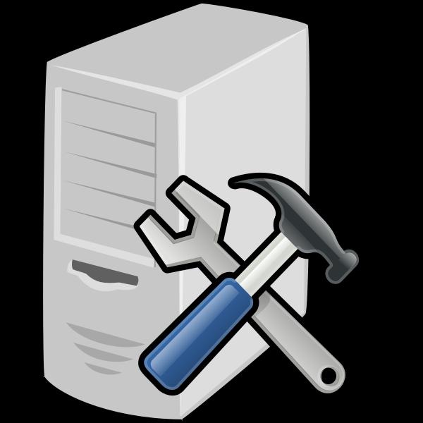 Tools server vector illustration