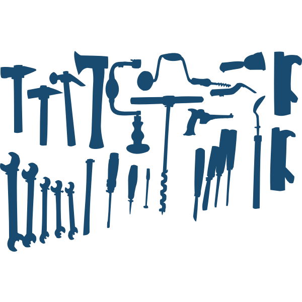 DIY tools selection vector clip art