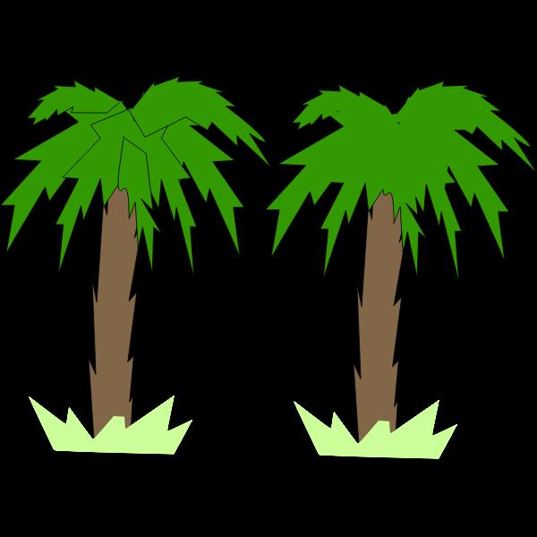 toon palm tree