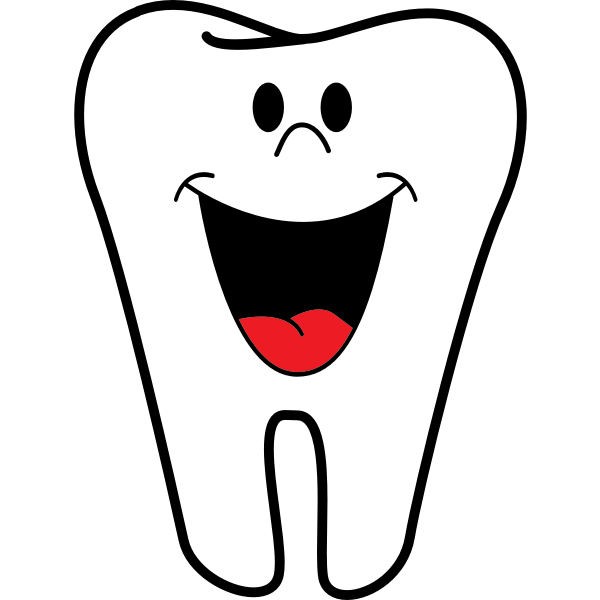 Happy tooth vector clip art