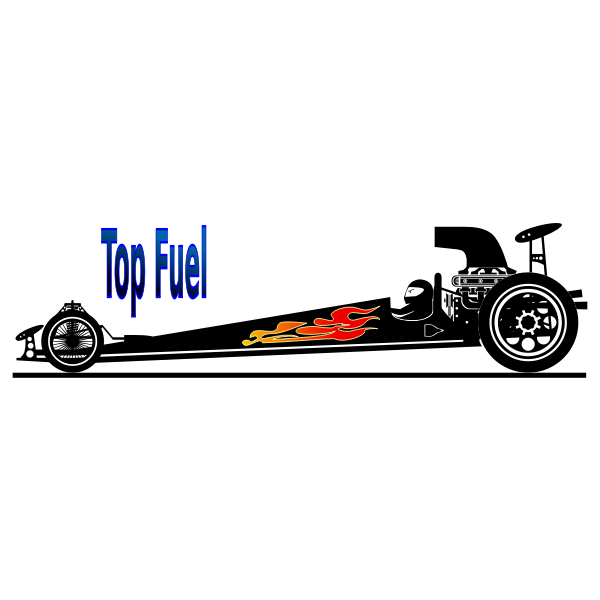 Top fuel car vector image