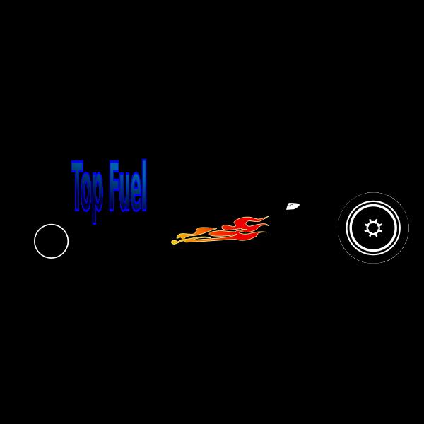 Top fuel car vector image