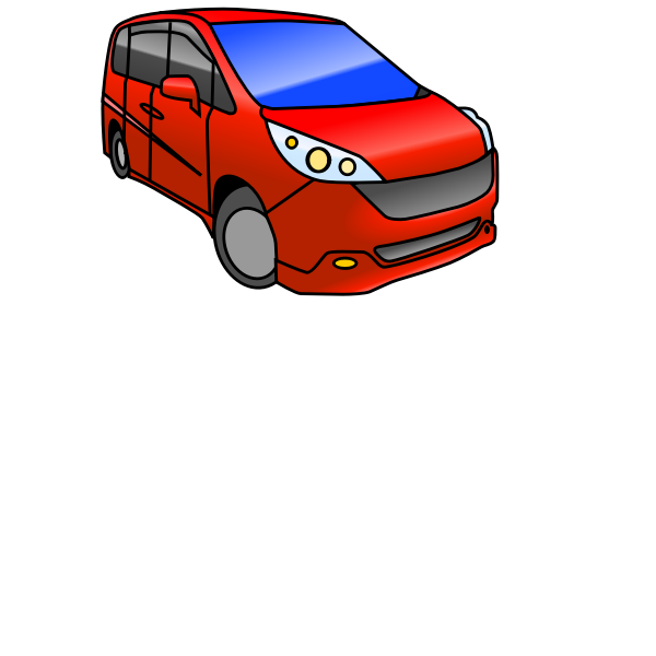 Minivan Automobile (color)