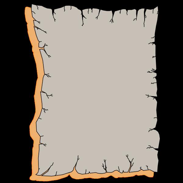 Wrinkled torn page