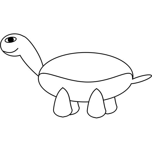 Outline vector image of small turtle