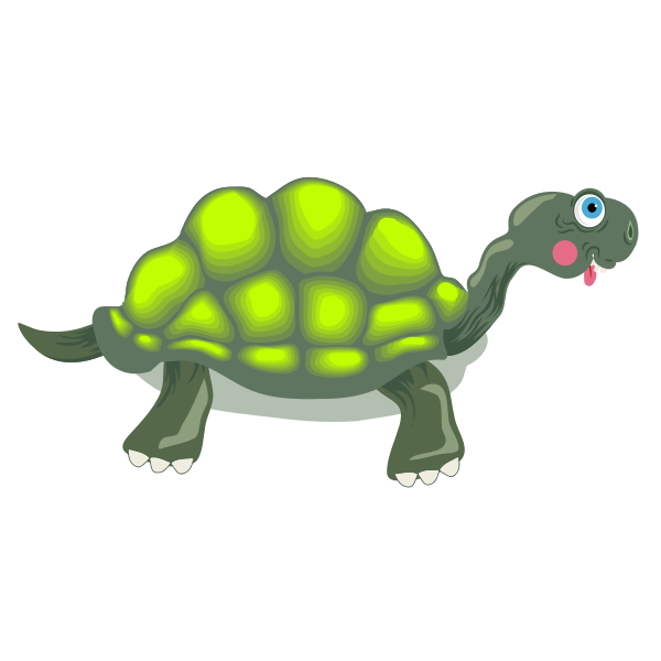 Image of florescent green tortoise