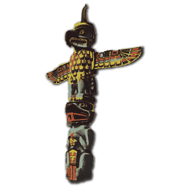 Totem pole vector art