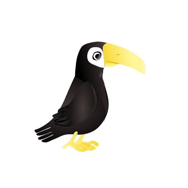Simple toucan vector illustration