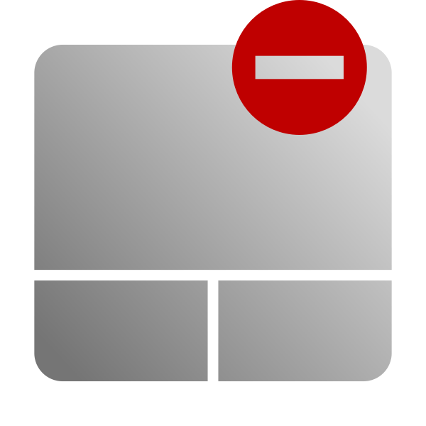 Grayscale touchpad disable icon vector clip art