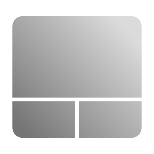 Grayscale touchpad icon vector clip art