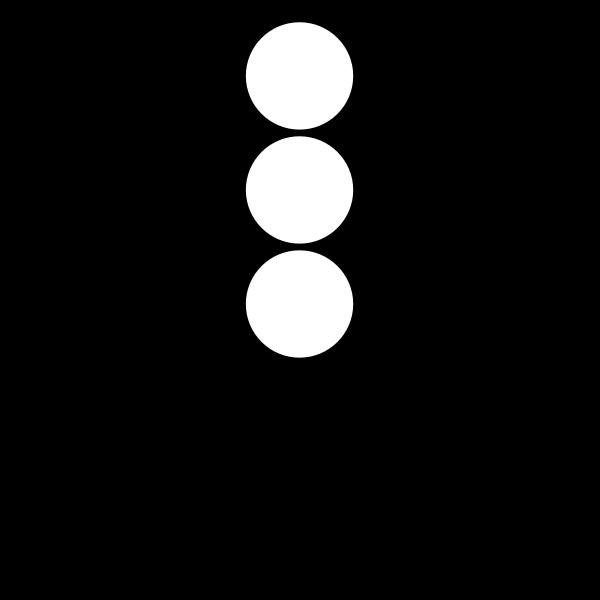 Traffic semaphore silhouette vector image