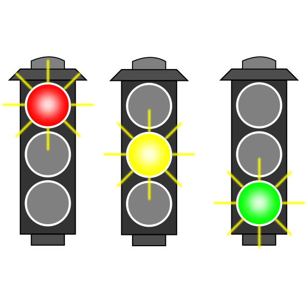 Traffic lights selection vector image