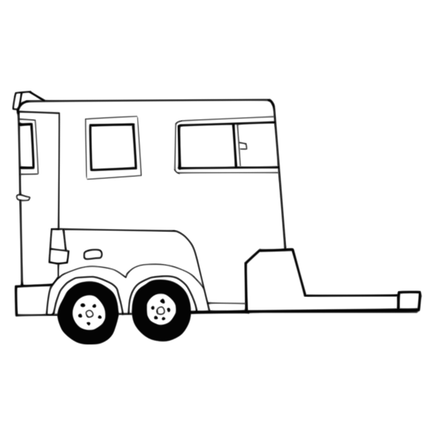 Car carrier trailer design outline vector graphics