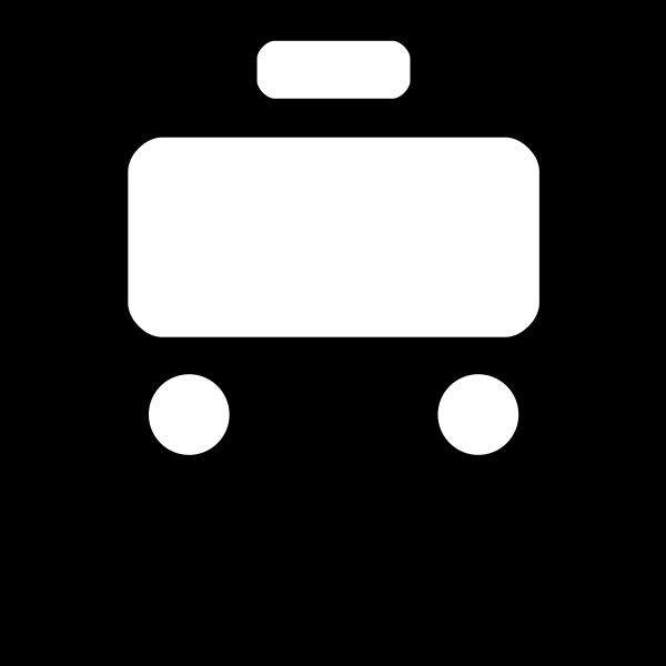 Vector illustration of train pictogram