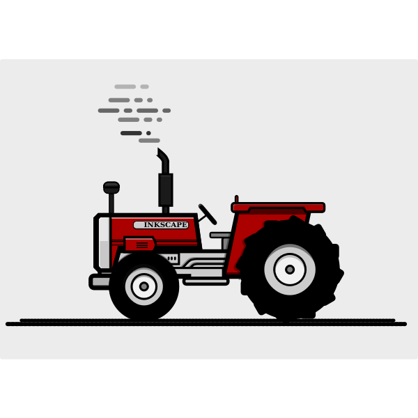 Red agricultural machine