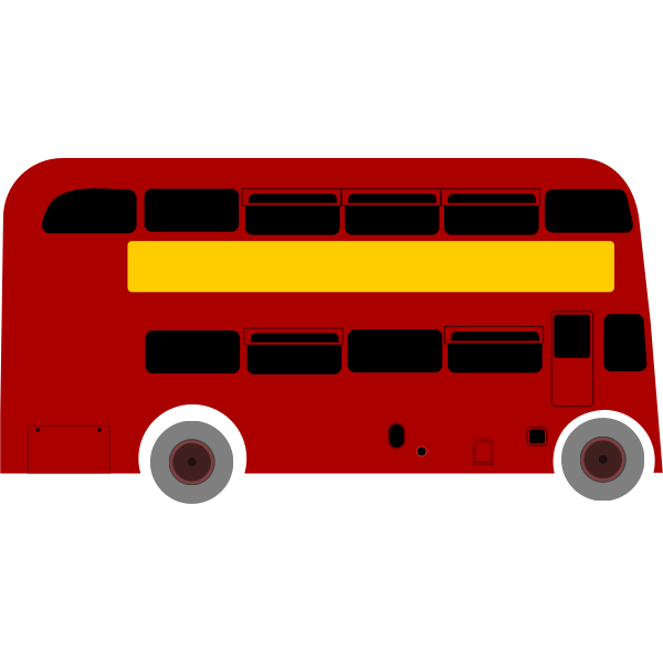 Double Deck Bus Vector