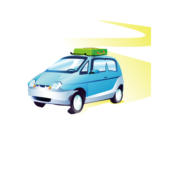 Travel car vector image