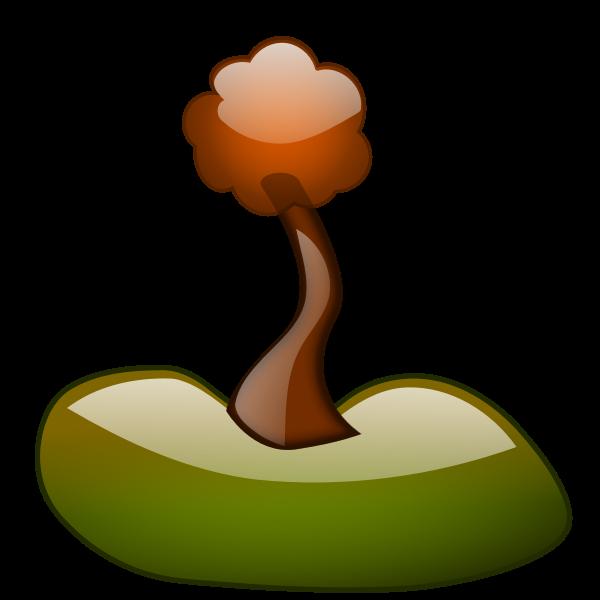 Spring tree branch vector clip art