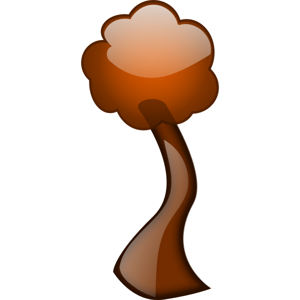 Autumn tree branch vector