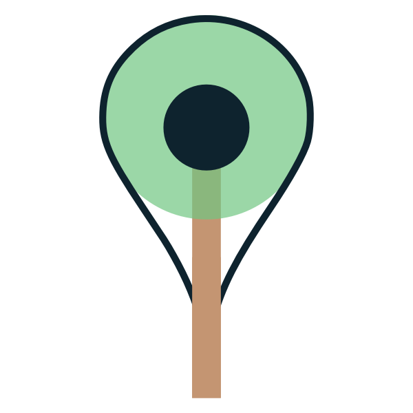 Pin Map Tree Icon
