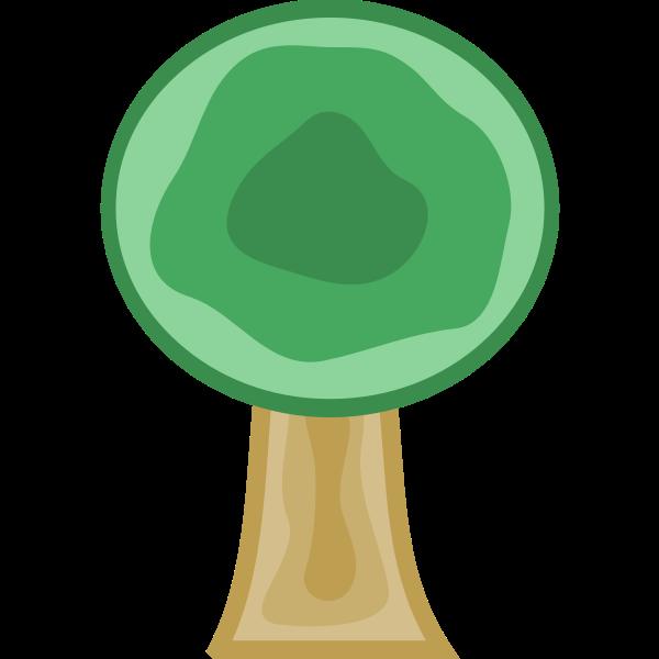 Storybook tree vector image