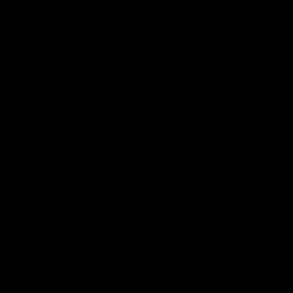 Silhouette vector graphics of vase tree top