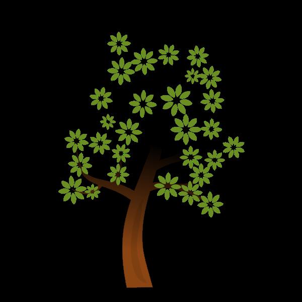 Simple spring tree branch vector clip art
