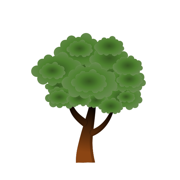 Simple vector image of round tree top