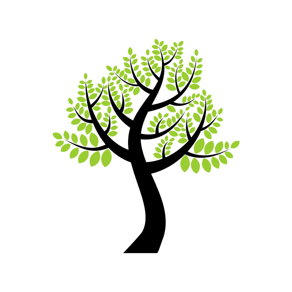 Vector image of high tree