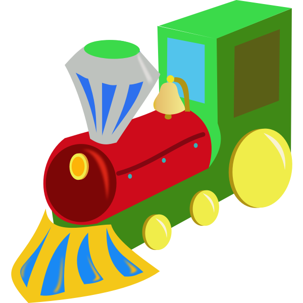 Color toy train vector image