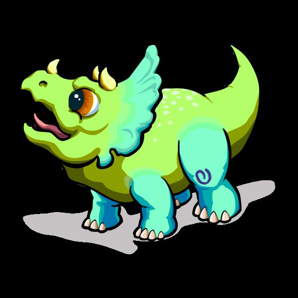 Green baby dino