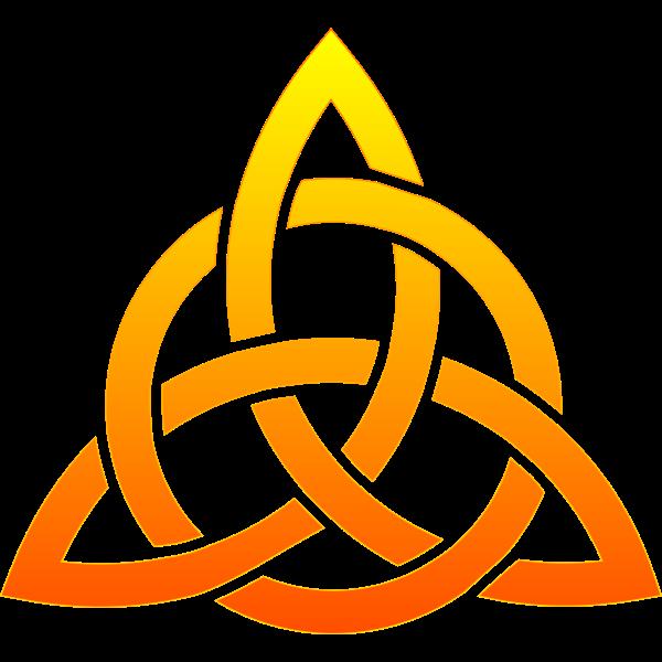 Shiny Celtic knot vector image