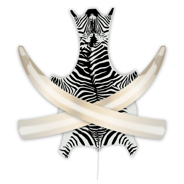 Vector illustration of hunting trophies
