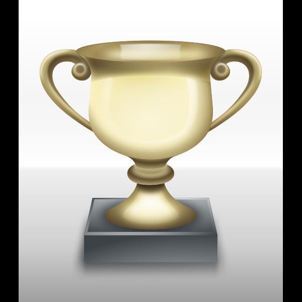 Vector clip art of shiny trophy