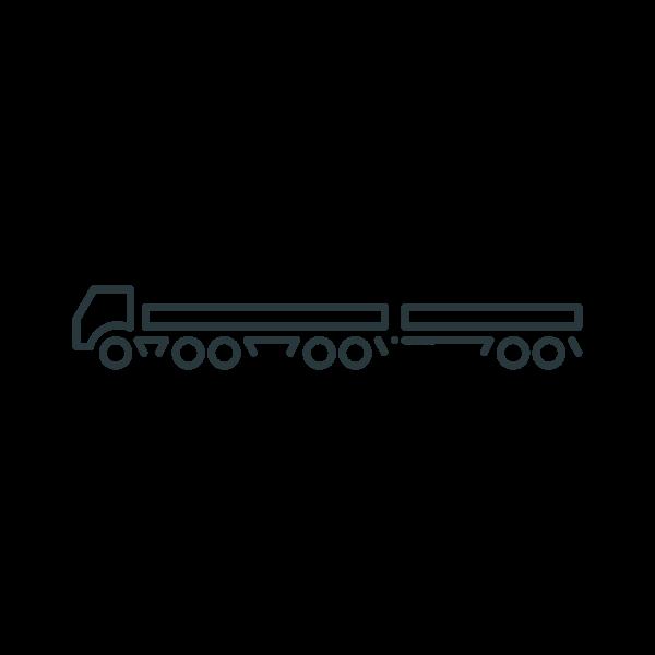 Two-trailer truck vector clip art