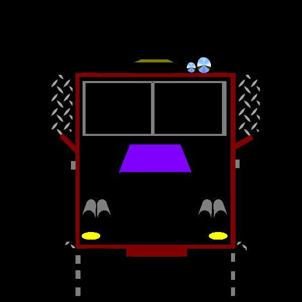 Big rig truck vector clip art