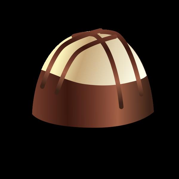 Illustration of delicious chocolate praline