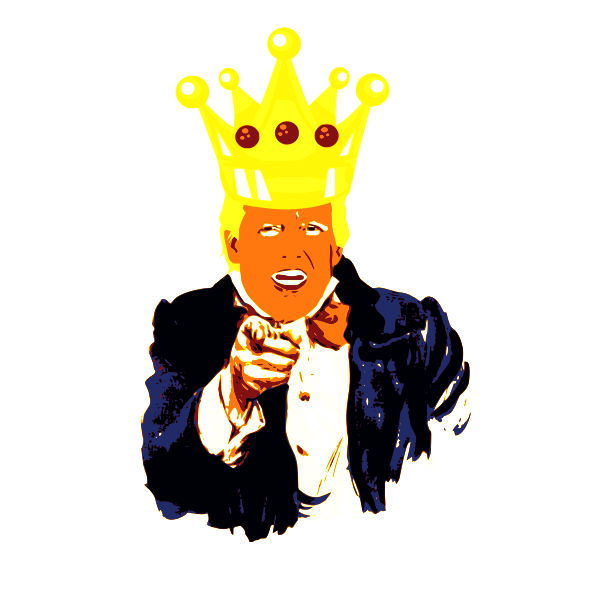 Trump in a crown