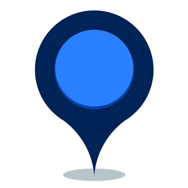 Blue map location pin icon vector image
