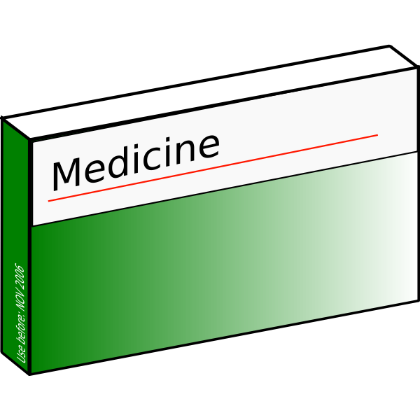 Pharmaceutical carton vector