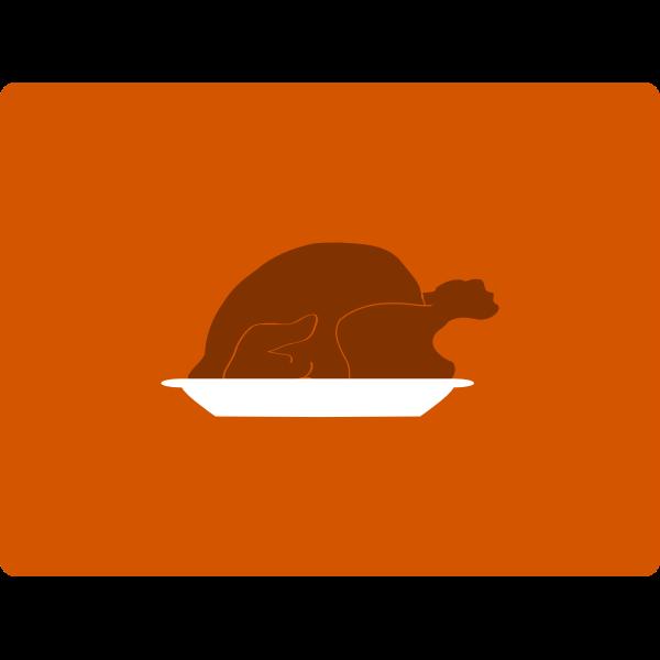 Vector illustration of turkey platter icon