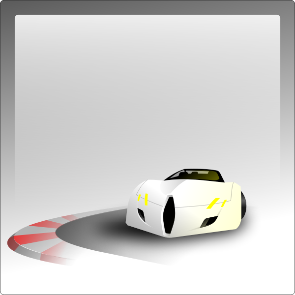 Vector graphics of car in a bend