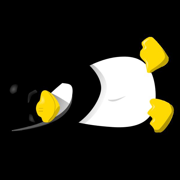 Tux asleep vector image