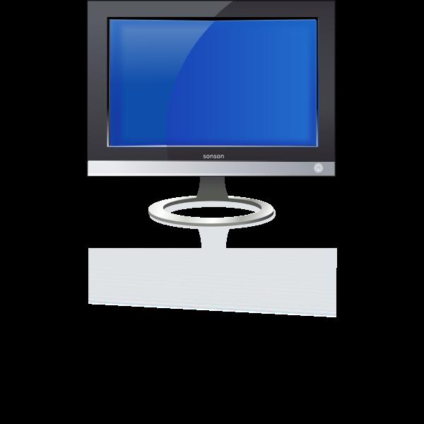 LCD monitor vector drawing