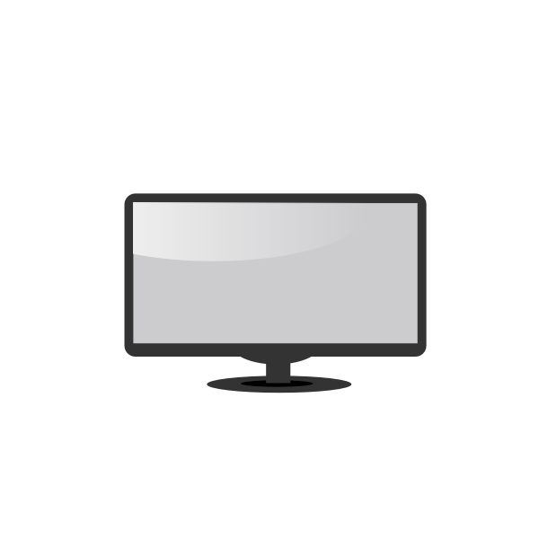 LCD monitor vector drawing