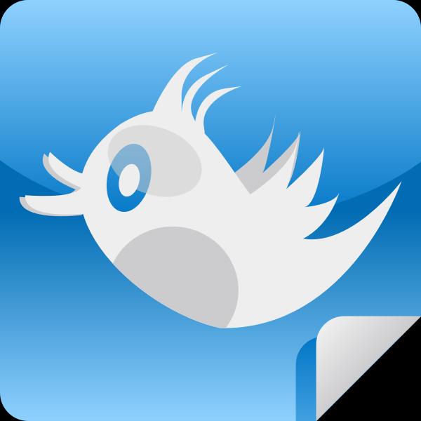 Twitter bird icon vector image