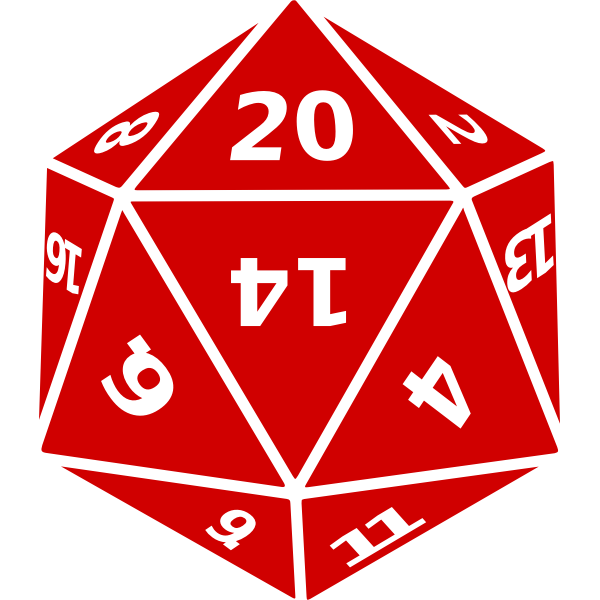 Twenty-sided dice